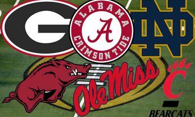 college football betting on the Crimson Tide Bulldogs Razorbacks Fighting Irish Bearcats Rebels