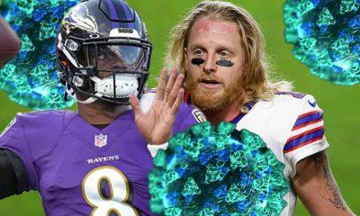 COvid-19 NFL odds Lamar Jackson Cole Beasley