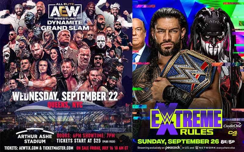 AEW betting WWE odds Extreme Rules Dynamite Grand Slam