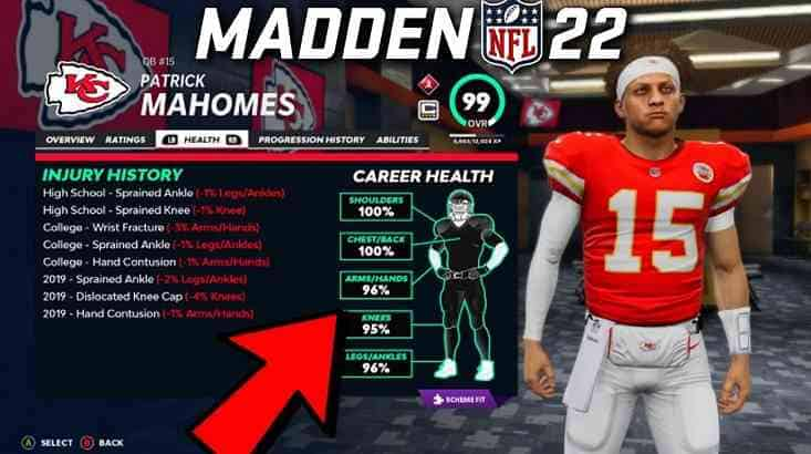 Madden 22 odds for betting on Mahomes