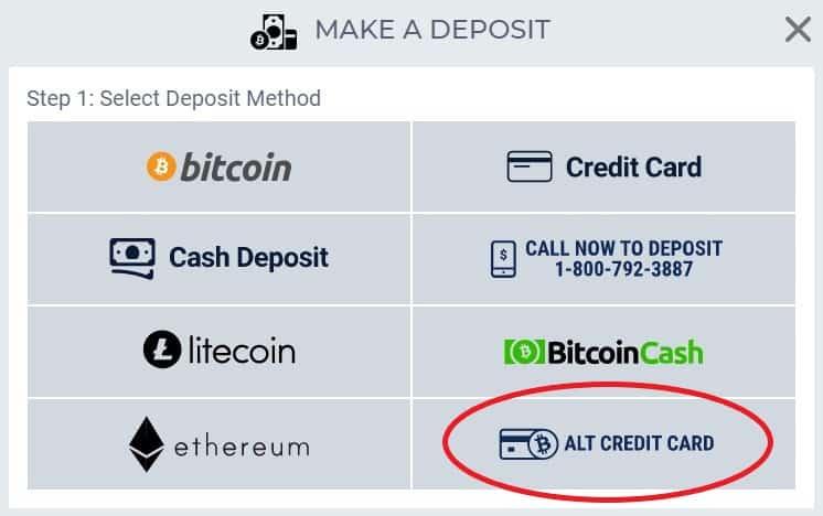 betus alt credit card deposit option