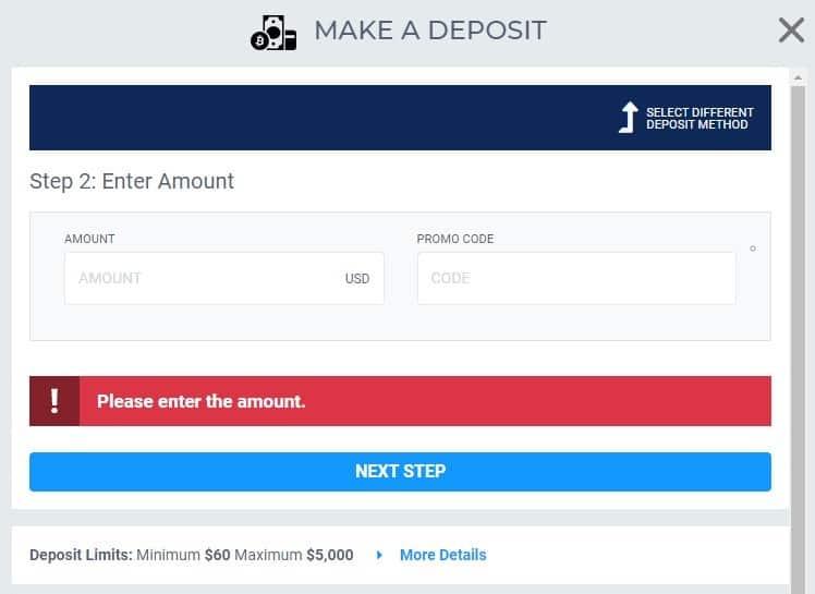 betus alt credit card deposit amount