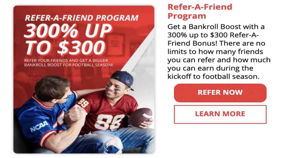 BetOnline refer a friend bonus